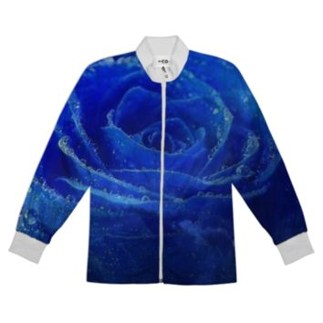 Blue Rose Tracksuit Jacket created by ErikaKaisersot | Print All Over Me