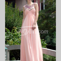 Buy Charming A-line	Empire Waist Rhinestones Pink Prom Dress under 300-SinoAnt.com