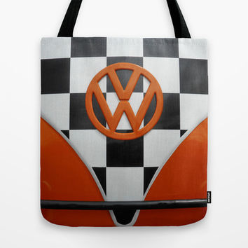 VW Checkers Tote Bag by Alice Gosling