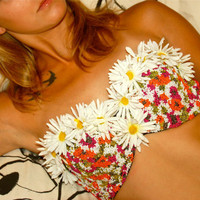 Beaded Daisy Rave Bra