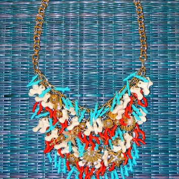 She Sells Sea Shells Bib Necklace -  $15.00 | Daily Chic Accessories | International Shipping