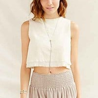 Urban Renewal Recycled Raw-Edge Cropped Tank Top-