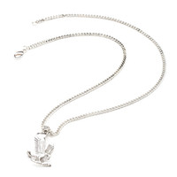 Eagle Pendant Necklace Silver One
