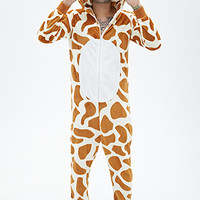 Plush Giraffe Jumpsuit Brown/Cream