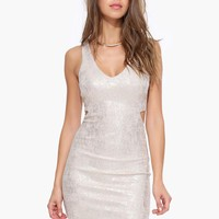 Dazzled Cut Out Mini Bodycon Dress