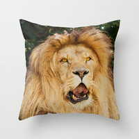 COOL PUNK LION Throw Pillow by Catspaws | Society6