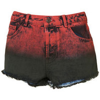 MOTO Dip Dye High Waisted Hotpants - Shorts  - Apparel