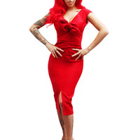 "Women's ""Niagara Dress"" by Pinup Couture (Red)"