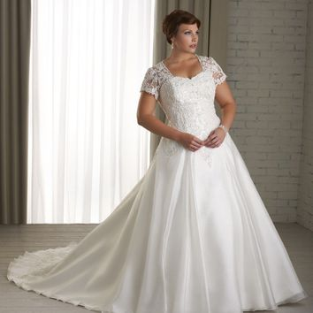 Princess cut gown sheer lace sweetheart from for Princess style wedding dresses sweetheart neckline