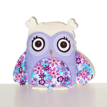 Handmade Owl Pillow, Decorative Cuddly Toy