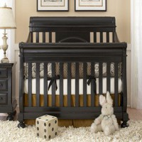 Creations Baby Summer's Evening Sleigh Crib in Rubbed White - 6465-523/6465-402