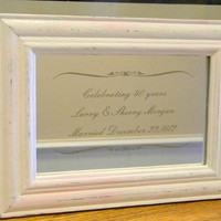 Mirror engraved for party tables anniversary wedding showers graduation
