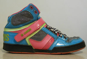 Osiris Women Skate Skating Pink High Tops Tennis Shoes Sneakers Sz US 8 EU 38.5