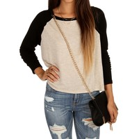 Natural Raglan Dolman Top