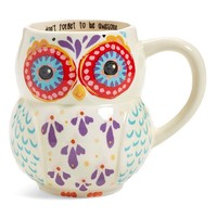 Natural Life 'Don't Forget to Be Awesome' 16oz. Owl Mug - White