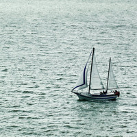 Fine Art Photo -Sailing the Ocean Blue - San Francisco, CA - 8X12
