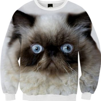 Funny Cat Fall Sweatshirt created by ErikaKaisersot | Print All Over Me