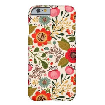 Antique Stylish Vintage Spring Floral Pattern iPhone 6 Case