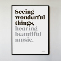 Seeing Wonderful Things, Hearing Beautiful Music - Seeing Wonderful Things, Hearing Beautiful Music