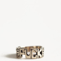 Fuck Word Ring By Jen&#x27;s Pirate Booty - $26.00 : ThreadSence.com, Free-spirited fashion for the indie-inspired lifestyle