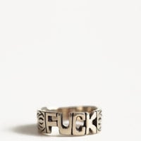 Fuck Word Ring By Jen's Pirate Booty - $26.00 : ThreadSence.com, Free-spirited fashion for the indie-inspired lifestyle