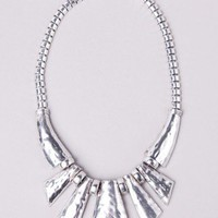 Tribal Metal Statement Necklace