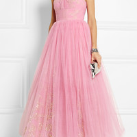 Ashish - Strapless sequin-embellished tulle gown