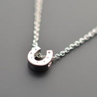 Mini Horseshoe silver Pendant Necklace.