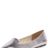 Silver point slipper pumps