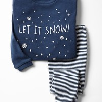 Gap Baby Festive Snow Sleep Set