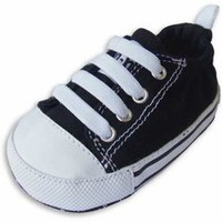 Black & White Charlie Baby Shoes for Boys by Me In Mind $25