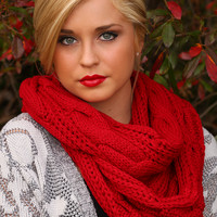 Magic In My Veins Scarf: Red - One