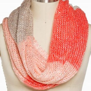 COLORBLOCK SEQUIN ETERNITY SCARF