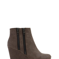 Zippy Duo Wedge Booties