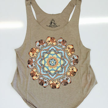 Dancing Elephant Top - Taupe