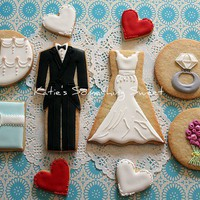 WEDDING COOKIES  A Set of 10 Cookies by katiesomethingsweet