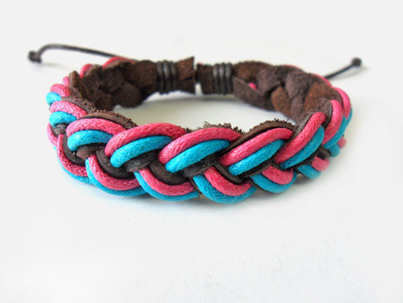 Jewelry bangle leather bracelet ropes bracelet woven bracelet women bracelet girls bracelet made of rope and leather woven cuff  SH-1657