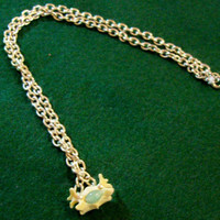 Jade Bone Pendant on silver gilt chain