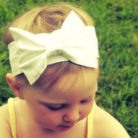 Custom Retro Headband with Bow for Infant Toddler or Child