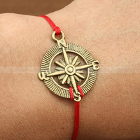 Adjustable compass bracelet- vintage compass bracelet