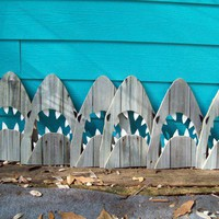 Shark made of recycled fence wood  JAWS Great by JohnBirdsong