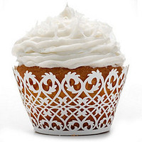 Filigree Cupcake Wrappers at The Knot Wedding Shop