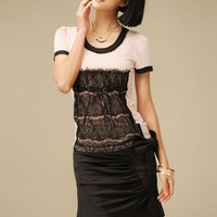 Women New OL Korea Butterfly Short Pleated Black Skirt S/M/L@IM2079b $27.51 only in eFexcity.com.
