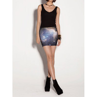 Galaxy Handprinted Skirt : Free Shipping