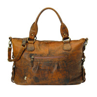OiOi Jungle Leather Slouch Tote Diaper Bag | Overstock.com