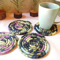 Coiled Coasters - Shadows and Light - Set of 4