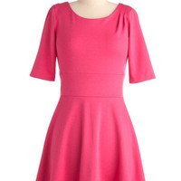 Deep Blue Scene Dress in Pink | Mod Retro Vintage Dresses | ModCloth.com