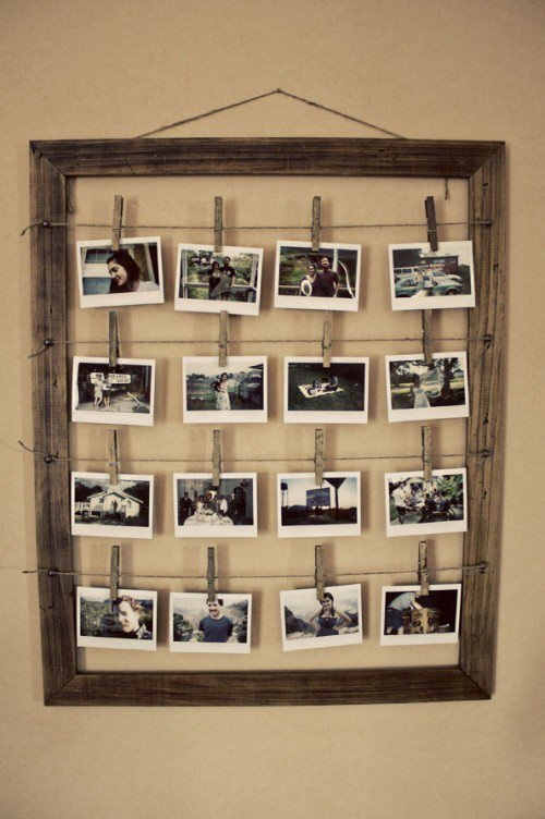 How To Make A Stylish Photo Frame For Several Photos | Shelterness