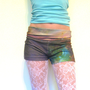 StaR CLouD Shorts -- 100% Organic Cotton Custom Print -- Size Small // Medium -- yoga dance hula hoop space cosmic summer festivals beach