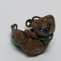 Sea Otter Polymer Clay Adjustable Ring